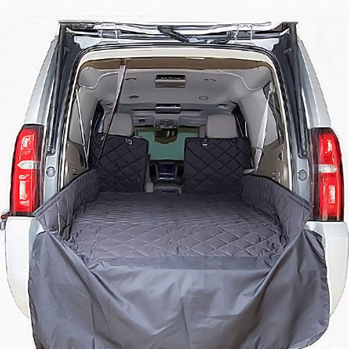 Plush Paws Refined Cargo Liner for Dogs - Waterproof & Nonslip Silicone Backing for Trucks & Suv's