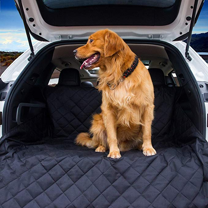Vulpes Cargo Liner Cover for SUVs and Cars, Dog Seat Cover for Car, Waterproof Non-Slip Car Accessories. (Black)