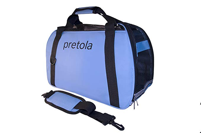 Pretola Soft Sided Pet Carrier Airline Approved Travel Bag – Perfect for Dog, Cat or Puppy - 3 Sizes