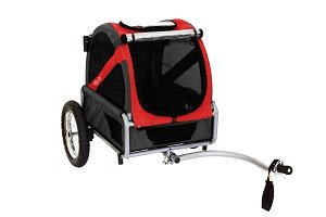 Mini bike trailer in red